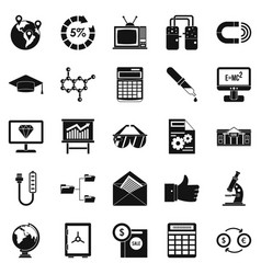 Startup icons set simple style vector