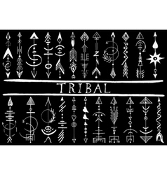 Tribal Hand Drawn arrow vector image