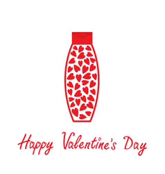 Valentines day love card tube of cream with vector
