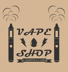 Vape shop emblem template style emblem with vector