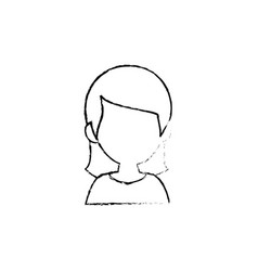 woman cartoon profile vector image vector image