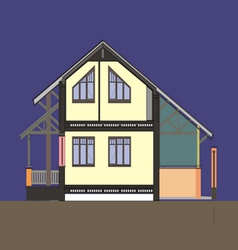 03 Colored house V vector image