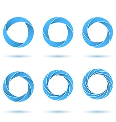 Segmented circles abstract figures vector image