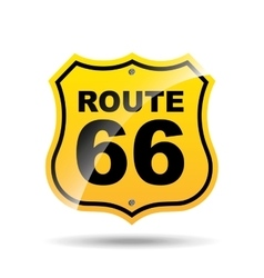 Road sign route 66 icon vector