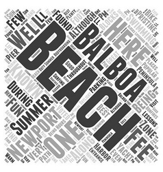 Balboa beach in newport beach word cloud concept vector