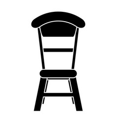 Wooden chair vintage pictogram vector