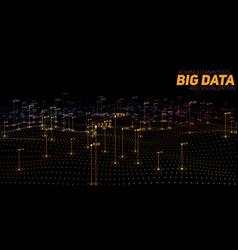 Big data colorful visualization vector