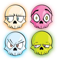 Glow skulls vector