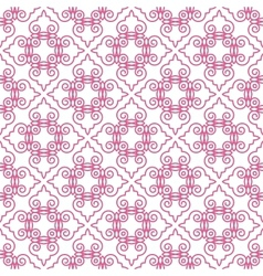 Seamless pattern with geometric tiles vector