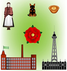 Lancashire - north of england vector