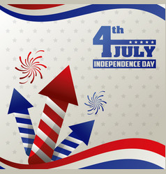 4th july independence day card event happy vector image vector image