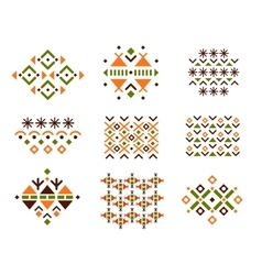 Cute collection of ethnic patterns vector