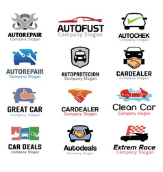 Car deal and repair design vector