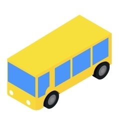 Bus isometric 3d icon vector