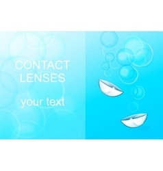 Contact lenses ophthalmology vector
