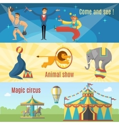 Flat Circus Banners vector image