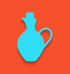 Amphora sign whitish icon on vector