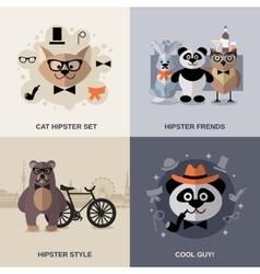 Animal Hipster Set vector image