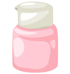 Bottle cream vector