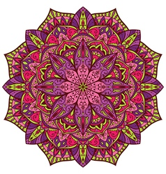 Bright colorful mandala vector