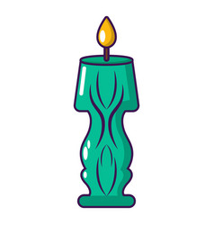 candle bright icon cartoon style vector image vector image