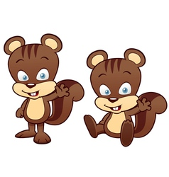 Cartoon squirrel vector