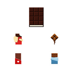 Flat icon chocolate set of chocolate dessert vector