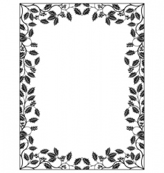 holly frame vector image