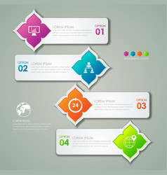 Infographic design template and marketing icons vector image vector image