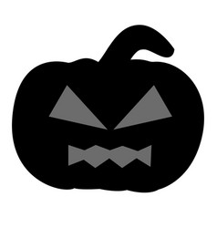 isolated jack-o-lantern silhouette vector image