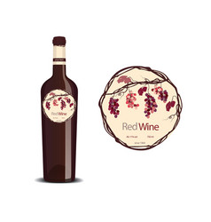 Label for red wine vector image vector image
