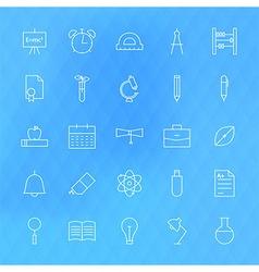 Line school icons set vector