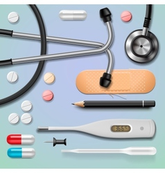 Medical equipment isolated vector
