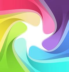 Modern rainbow semitone camera background vector image