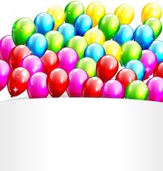 Multicolored inflatable celebration bright vector
