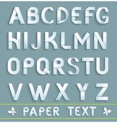 Original Paper Font vector image vector image