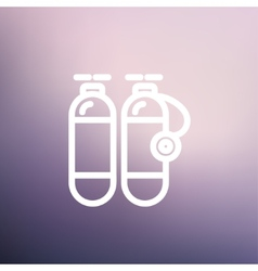 Oxygen tank thin line icon vector