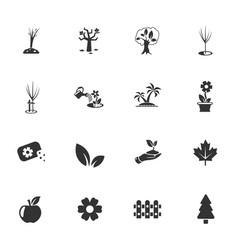 Plants tools icon set vector