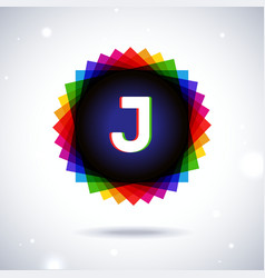 Spectrum logo icon letter j vector