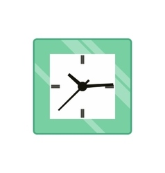 Square wall clock icon flat style vector image vector image