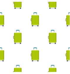 suitcase on wheels pattern flat vector image