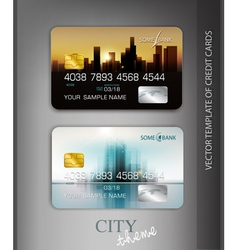 template credit cards with modern design vector image vector image