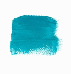 Turquoise acrylic paint banner vector