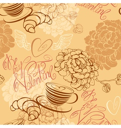 Valentines Day background - seamless pattern vector image vector image