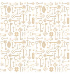 vintage keys seamless pattern background for vector image