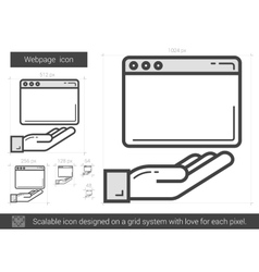 Webpage line icon vector