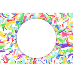 white advertising blank circle over colorful vector image vector image