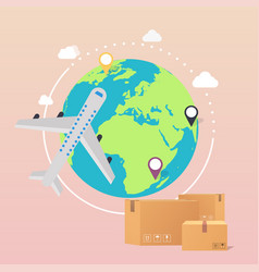 World wide delivery of a world vector