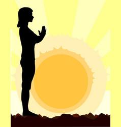 Yoga salutation vector