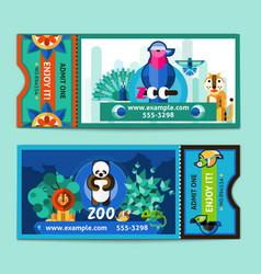 Zoo tickets set vector
